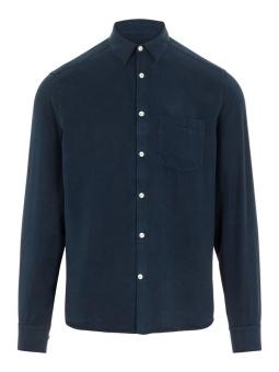 J.Lindeberg Comfort Tencel Slim Shirt Navy