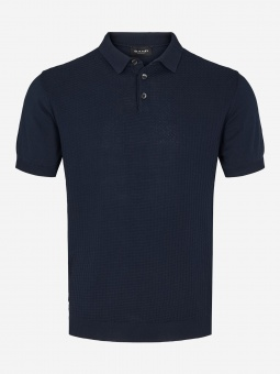 Sand Retro Polo Navy