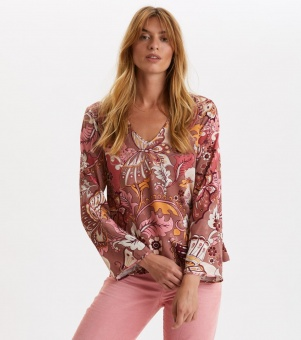 Odd Molly Puzzle me together blouse Red Taupe