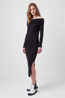 French Connection Off shoulder Dress Black