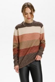 Kaffe Lorria Knit Pullover Brown Mel