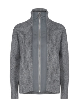 Mosmosh Monroe Knit Cardigan Grey Mel.