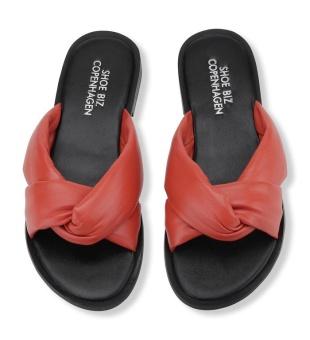 Shoe Biz Copenhagen Sikta Plain Leather Orange