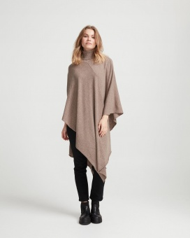 Holebrook Fia Rollneck Poncho Walnut