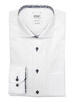 Oscar of Sweden Vit skjorta med Blå Paisley Detaljer
