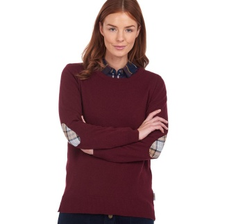 Barbour Pend Crew Knit Garnet
