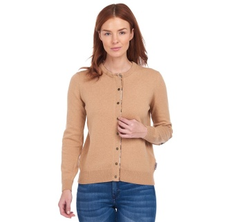 Barbour Pendle Cardigan Caramel
