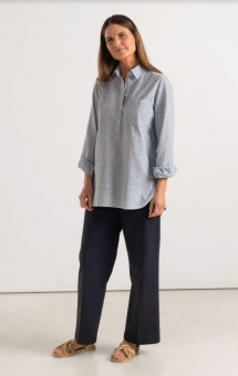 Boomerang Petra Pop Over Shirt Blue Nile