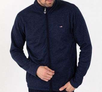 Sebago Zip fleece jacket Navy Melange