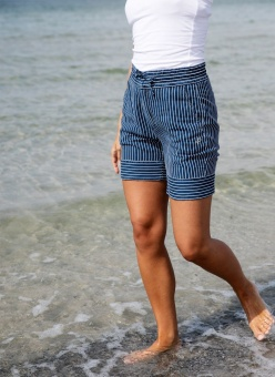 Pelle P Prudence Shorts White Navy Stripe