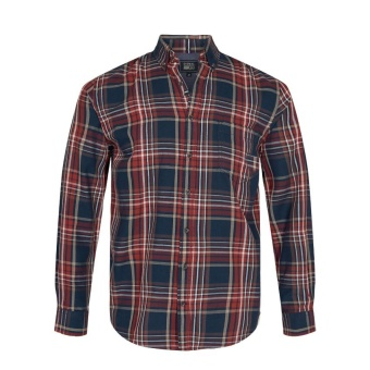 Signal Adam Check Shirt Paprika Smoke