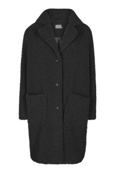 Kaffe Balma Teddy Coat Black Deep