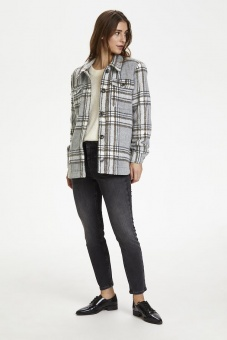 Kaffe baran Jacket Grey Melange check