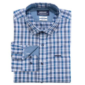Sebago Small Checked Shirt blue/Navy