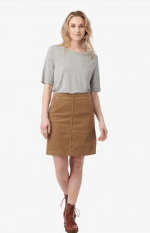 Boomerang Catti Cord Skirt Golden Beige