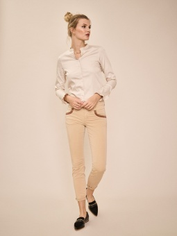 Mosmosh Naomi Daze Pant Cuban Sand Regular