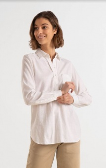 Boomerang Petra Pop Over Shirt White