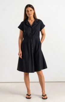 Boomerang Pippi Poplin Dress Blue Depth