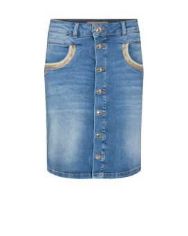 Mosmosh Vicky Wave Skirt Light Blue