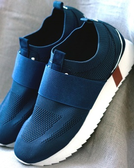 Mosmosh Rome Knit Sneaker Dark Blue