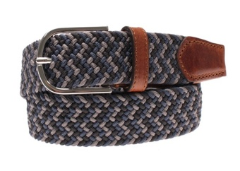 Saddler Belt Navy/Grey
