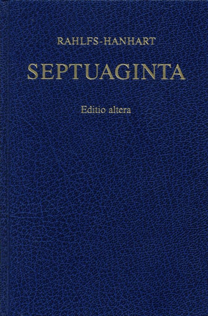 Septuaginta, Editio altera, grekiska (revised edition)