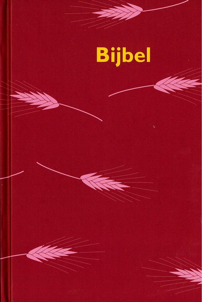 Bijbel, texten i tvåspalt, kartor i färg, märkband, hård pärm