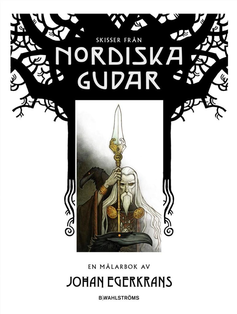 Skisser från Nordiska gudar: en målarbok av Johan Egerkrans