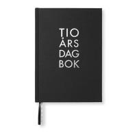 Tio års dagbok, svart textil A5