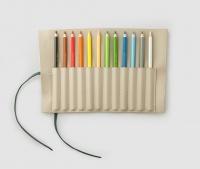 Pennfodral ink 12 färgpennor - Beige/Grön