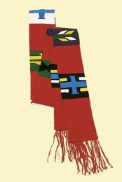Guatemala-stola »Aiquen», bomull, röd