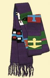 Guatemala-stola »Aiquen», bomull, violett