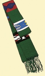 Guatemala-stola »Aiquen», bomull, grön