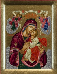 Maria: Gudsmoderns ömma kyss (Glykofilousa) - krönt