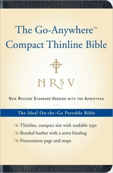 Bible NRSV with Apocrypha, 'Go-Anywhere' Compact Thinline, Blue Leather