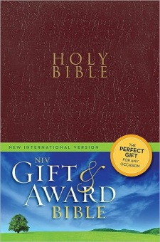 New International Version, NIV, Gift and Award Bible, Röd
