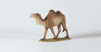 Kamel 23x16 cm & kamelförare 15 cm, 'Birgitta', 2 figurer, berkalit