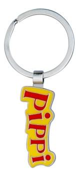 Nyckelring Pippi logo