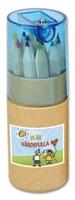 Pennset m. 12 färgpennor + pennvässare, 'värdefull'