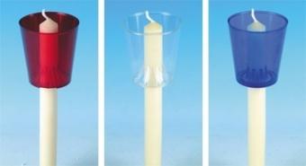 Skydd för lågan - genomskinlig/klar plast