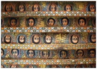 Vykort 104: Änglar - etiopiskt kyrktak
