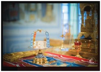 Vykort 108: Altare under liturgin