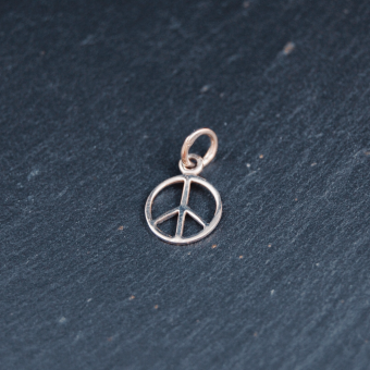 Peacemärke, silver, 10 mm