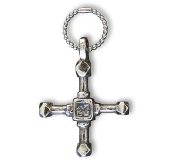 Bysantinskt kors, silver