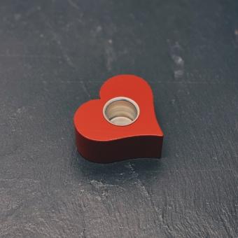 Hjärtljusstake, röd