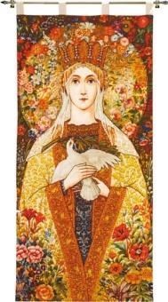 Standar Vår Fru av Fred (tryckt på bomullsväv)