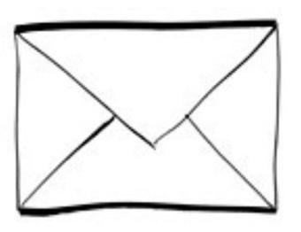 Vita kuvert - olika strl