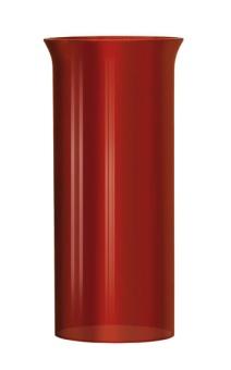 Lampglas rött