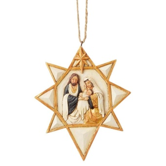 Black & Gold Nativity Star
