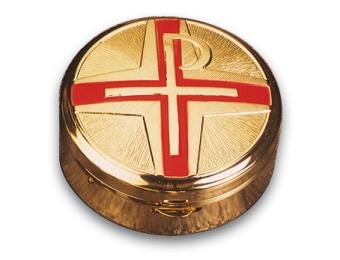 Kristusmonogram m. rött kors, 5,6cm